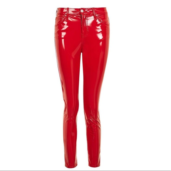 save off elegant and graceful 100% satisfaction Red PVC Patent Leather Pants